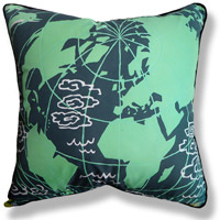 black and white travel vintage cushion 732