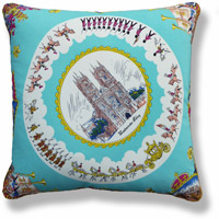 cyan travel vintage cushion 763