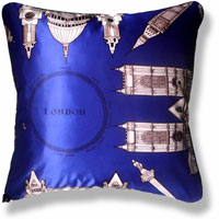 blue travel vintage cushion 828