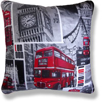 red travel vintage cushion 837